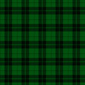 Green and black plaid fabric background that is seamless repeats Royalty Free Stock Photos