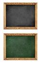 Green and black school blackboard or chalkboard Royalty Free Stock Photo