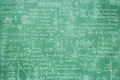 Green blackboard with math formula Royalty Free Stock Photo