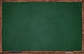 Green blackboard wooden frame eraser chalk Royalty Free Stock Photography