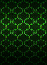Green blossom network pattern dark background vector illustration Stock Photography