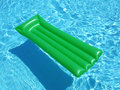 Green on Blue Royalty Free Stock Image