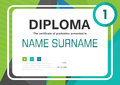 Green blue black A4 Diploma certificate background template layout design Royalty Free Stock Photo
