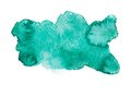 Green blue colorful abstract hand draw watercolour Royalty Free Stock Photo