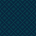 Green and Blue Colors Round grid Pattern. Korean traditional Pat Royalty Free Stock Photo