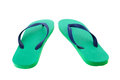 Green and blue flip flops Royalty Free Stock Photo