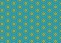 Green Blue Hexagon Pattern