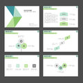 Green and blue Infographic elements icon presentation template flat design set for advertising marketing brochure flyer Royalty Free Stock Photo