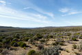 Green and blue landscape of Tankwa Karoo Royalty Free Stock Photo