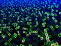 Green and Blue Pattern of Squares Within Squares Royalty Free Stock Photo