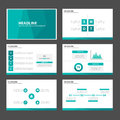 Green blue polygon infographic element and icon presentation templates flat design set for brochure flyer leaflet website Royalty Free Stock Photo