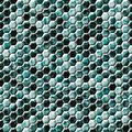 Green blue snake skin hexagonal seamless pattern texture Royalty Free Stock Photo