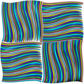 Green and blue twisted stripes texture Stock Photography