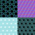 Green, blue, yellow and red floral geometric patterns Royalty Free Stock Photo