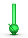 Green bong isolated on white background Royalty Free Stock Photo