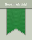 Green bookmark decoration ribbon textured Stock Photo