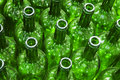 Green bottles Stock Photo