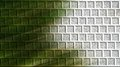 Green brick wall computer generated new with different layers and diagonally lighted Stock Photos