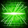 Green brightness background shows radiance and lines showing Royalty Free Stock Photo