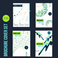 Green Brochure mega set template layouts, cover design, annual report, magazine, flyer, leaflet in A4 with shapes for