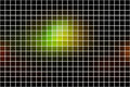 Green brown yellow black square mosaic background over white