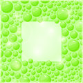 Green bubble frame with square place for text light invitation card or brochure Royalty Free Stock Images