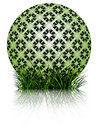 Green bubble and grass reflected Royalty Free Stock Images