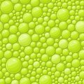 Green bubbles seamless background with shiny soap drops illustration Royalty Free Stock Photos