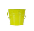 Green bucket isolated on white background springtime concept Royalty Free Stock Photos