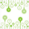 Green bulb background stock vector Royalty Free Stock Photos