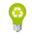 green bulb eco icon