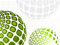 Green business abstract background design Stock Images