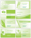 Green business cards Stock Photo
