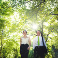 Green Business Couple Partnership Team Concept Royalty Free Stock Photo