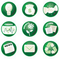 Green Business Icons Royalty Free Stock Photo