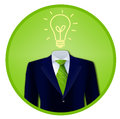 Green business idea badge Royalty Free Stock Photo