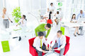 Green Business Office Meeting Seminar Conference Concept Royalty Free Stock Photo