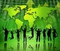 Green Business People Celebrat...