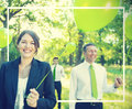 Green Business Team Freedom Relax Harmony Concept Royalty Free Stock Photo