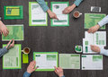 Green business team Royalty Free Stock Photo