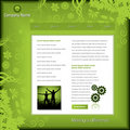 Green business web template Royalty Free Stock Photos