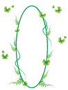 Green butterfly frame vector and illustration 01 Royalty Free Stock Photo