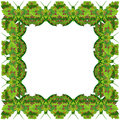 Green butterfly photo frame Royalty Free Stock Photo