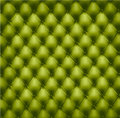 Green button-tufted leather background. Royalty Free Stock Photography