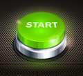 Green button with words start on black background vector illustration Stock Photography