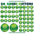 Green buttons Royalty Free Stock Photos