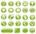 Green buttons set. Stock Image