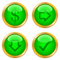 Green buttons for web Royalty Free Stock Photography