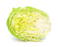 Green cabbage fresh on white background Royalty Free Stock Image