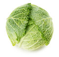 Green cabbage isolated on the white background Royalty Free Stock Photo
